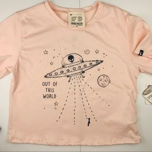 Pink Space Alien Out of This World T-shirt Top